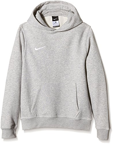 Nike Team Club - Felpa con cappuccio, Multicolore - Grey Heather/Grey Heather/Football White, L