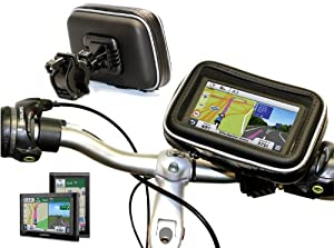 """Navitech Cycle / Bike / Bicycle & Motorbike Waterproof holder mount and case for GPS satnav models up to 4.3 """" models including the TomTom ONE XL 1v, TomTom ONE XL Europe, ONE XL Regional, TomTom ONE XL Regional Classic, Tom Tom GO 520 Traffic, GO 520 Music Edition , TomTom GO 720, GO 720 Traffic, TomTom GO 920 Traffic, GO 520"""