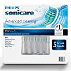 Philips Sonicare ProResults Replacement Brush Heads - 5 pack (Fits DiamondClean, FlexCare+, FlexCare, HealthyWhite, EasyClean)
