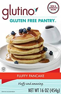 Glutino Gluten Free Pantry Fluffy Pancake Mix, 16-Ounce Boxes (Pack of 6)