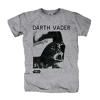 Star Wars - T-Shirt Homme Darth Vader Retro - Gris - S