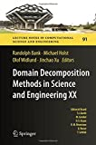 img - for Domain Decomposition Methods in Science and Engineering XX (Lecture Notes in Computational Science and Engineering) book / textbook / text book