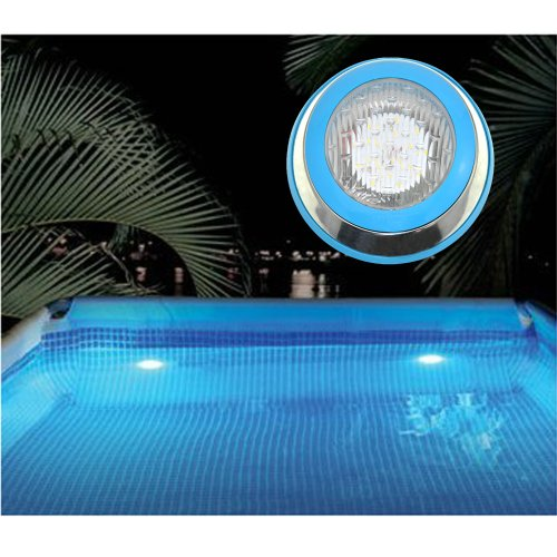 12V/9W Smd5730 Ip68 Waterproof Led Pool Light Underwater Light With Stainless Steel Face Ring (Cool White)