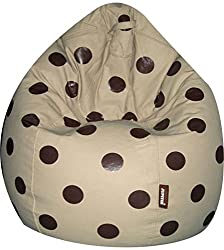 Jupiter Premium Leatherette XXXL Bean Bag - Spotty Fawn (Empty Cover - without Filling)