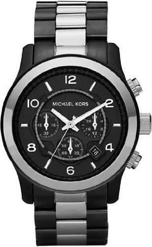 Men's Two Tone Stainless Steel Quartz Chronograph Gray Dial Date Display fossil часы fossil es4196 коллекция idealist