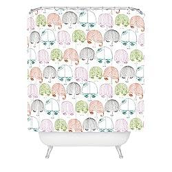 DENY Designs Rebekah Ginda Design Mod Girls Shower Curtain, 69-Inch by 72-Inch