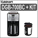 Cuisinart (DGB-700BC) 12 Cup Grind & Brew Coffeemaker (Brushed Chrome) + (E ....