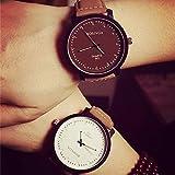 (スマイル)smile 男女兼用 ビッグフェイス カジュアル 腕時計 ペアウォッチ ホワイト ブラウン
