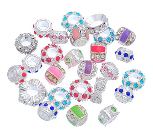 souarts-silver-color-mixed-colorful-rhinestone-european-beads-for-charms-bracelet-pack-of-10pcs