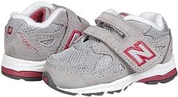 New Balance KV990 Hook and Loop Running Shoe (Infant/Toddler),Grey/Pink,3 M US Infant
