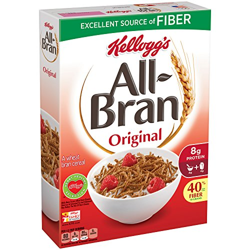 All-Bran Cereal, Original, 18.3-Ounce Boxes (Pack of 5) (All Packs compare prices)