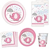 Elephants Girl Standard Party Packs (For 16 Guests)