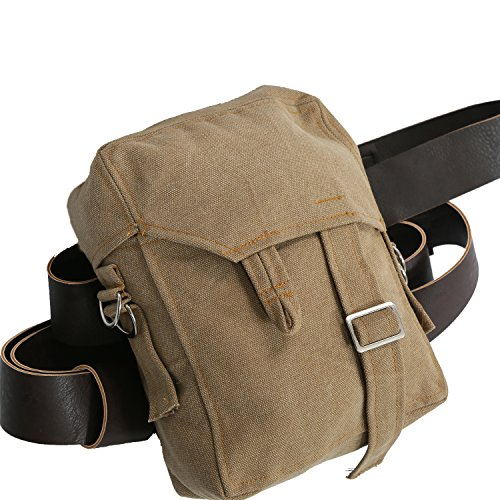 Rey Bag SW 7 Cosplay Accessories Brown Canvas Rey Sidebag with PU Belt