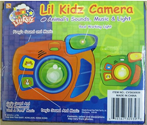 Lil Kids Camera with Light, Music and Animal,s Sound - 1