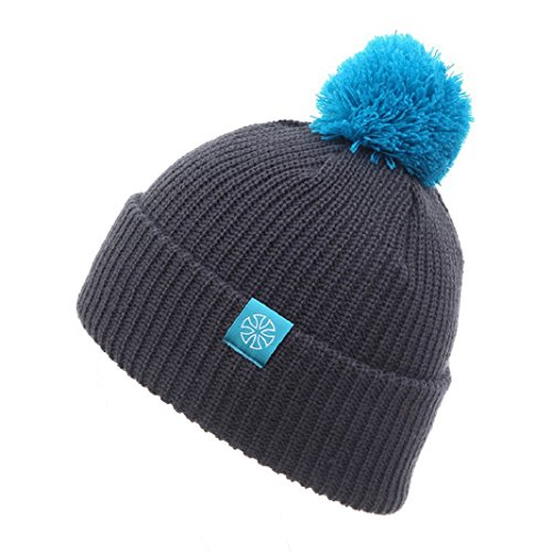 Iuhan Fashion Double Color Unisex Winter Warm Knit Ski Crochet Slouch Hat Cap (Gray) (Zulu Zephyr compare prices)