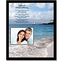 25th Anniversary Gift for a Special Couple - 25th Anniversary Poem in 8x10 Inch Frame - Add Photo from Poetry Gifts