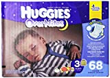 Huggies Overnites Diapers, Size 3, 68 Count