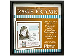 Die Cuts With A View Page Frame 7-inches by 7-inches, Black