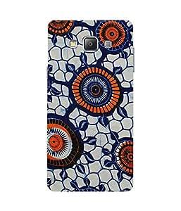 Orange Circles Samsung Galaxy A7 Case