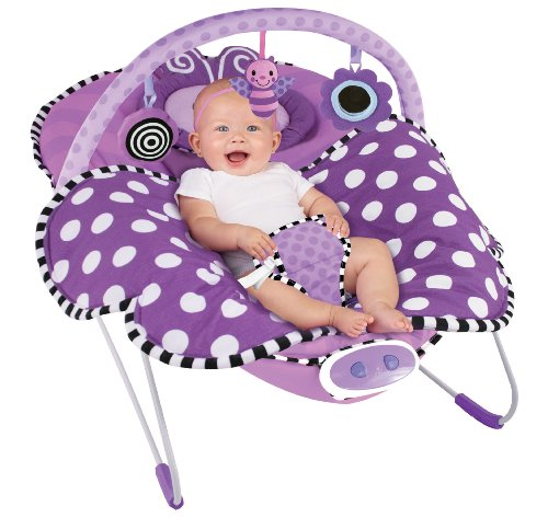 Sassy Cuddle Bug Bouncer, Violet Butterfly - 1