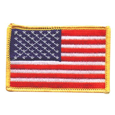 Hot Leathers American Flag Patch (5