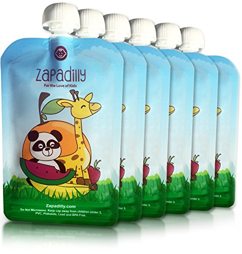 buy Zapadilly Reusable Food Pouch (6 Pk-6oz) Great for Feeding Baby and Toddlers for sale