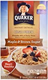 Quaker Instant Oatmeal HIGH FIBRE Maple & Brown Sugar 360g