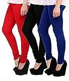 Lakos cotton chudidar pack of 3 leggingS(6S-P3-BK-2)