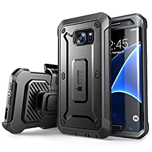 Galaxy S7 Edge Case, SUPCASE Full-body Rugged Holster Case with Built-in Screen Protector for Samsung Galaxy S7 Edge (2016 Release), Unicorn Beetle PRO Series - Retail Package (Black/Black) from SUPCASE