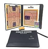 バスケットボール タクティック ボード 作戦 盤 折りたたみ フォーメーション 試合 研究 ミニ バスケ コート ゲーム 戦術 マグネット (Bタイプ)