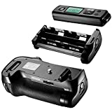 Neewer® Built-in 2.4GHZ LCD Display Wireless Remote Control Shooting Grip Replacement MB-D17 Work with 1 Piece EN-EL15 Rechargeable Battery or 8 Pieces AA Batteries for Nikon D500 Camera