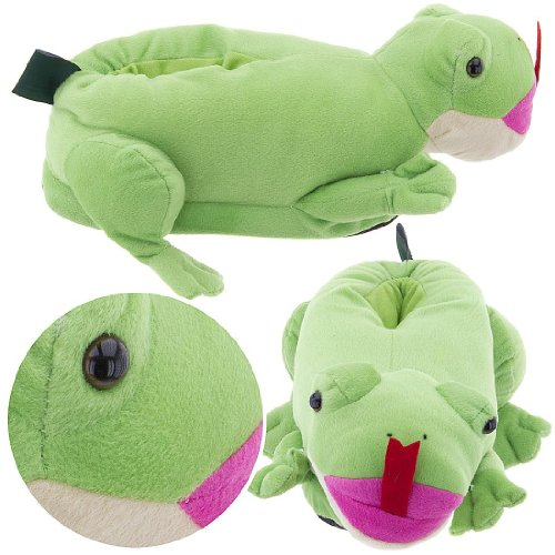 Cheap Frog Slippers for Women and Men (B0077QTLMI)