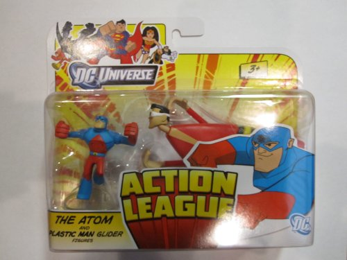 Mattel Boys DC Action League - The Atom and Plastic Man Glider