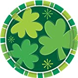 St. Patrick s Day Spring Clover 9 in. Round Dinner Plates 8 ct
