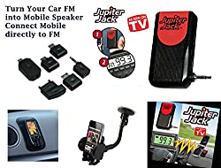 Everything Imported JJACK-MC12 Jupiter Jack Cell Phone/Car Speakerphone Converter With Free Car Mobile Holder + Sticky Dashboard Mat