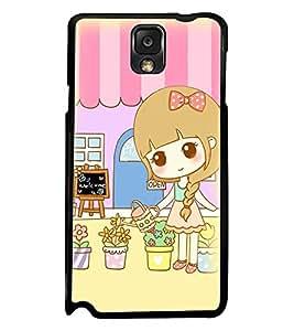 Printvisa Sweet Girl Gardening Back Case Cover for Samsung Galaxy Note 3 N9000::Samsung Galaxy Note 3 N9002::Samsung Galaxy Note 3 N9005 LTE