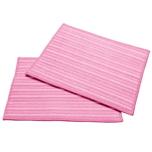 Haan Mf2P 2-Ultra Microfiber Cleaning Pads, Pink