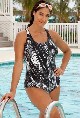 Aquabelle Chlorine Resistant Spirograph Swimsuit