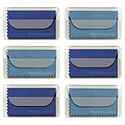 MightyMicroCloth Premium Microfiber Cleaning Cloths - (6 pack) each in a Travel Pouch for Eyeglasses, Computer Screens, Glasses, Lens, iPads, iPhones, Cameras, LCD TV - 7\