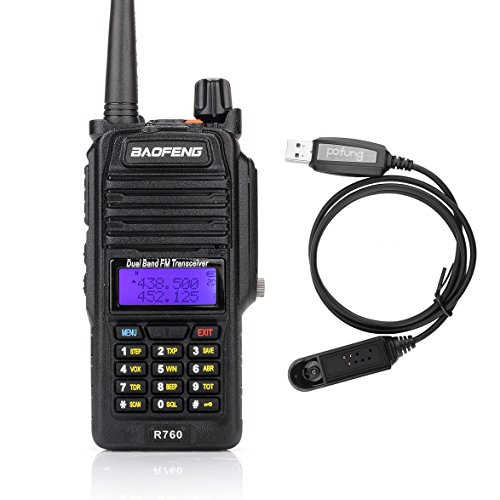 Baofeng R760 Waterproof IP57 136-174/ 400-520MHZ Dual Band Ham Two-way radio Walkie Talkie Transceiver with Programming Cable (Baofeng Head compare prices)