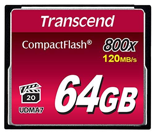 Transcend 64GB CompactFlash Memory Card 800x (TS64GCF800) (Transcend 64 Gb Cf Card compare prices)