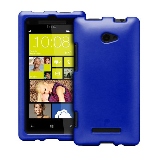 Fosmon MATT Series Hard Rubberized Slim Fitting Protective Case for HTC Windows Phone 8X (Blue)
