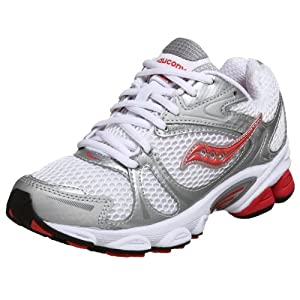 Saucony Women's Grid Ignition Running Shoe,White/Silver/Rose,5.5 M