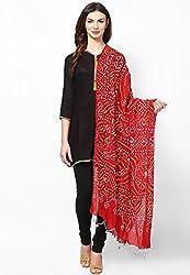 Soundarya Ethnicwear Cotton Bandhej Handwork Dupatta for Women (3050)