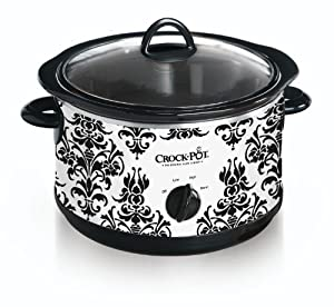 Crock Pot SCR450-PT 4-1 2-Quart Slow Cooker, Black Demask Pattern by Jarden Consumer Solutions