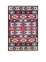 Tapis a Porter Alfombra Doubleface Mahmud Rojo/Marfil/Multicolor 100 x 200 cm