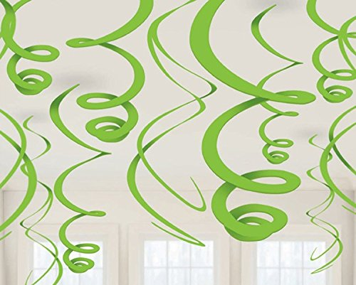 Swirl Deco 22 Inches - Green 12 Ct [4 Retail Unit(s) Pack] - 67055.53