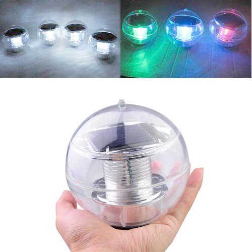 Solar Powered Waterproof Led Garden Light Color Changing Floating Outdoor Ball Lamp