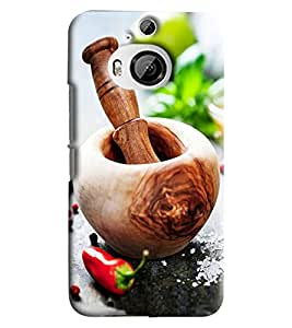 Blue Throat Wooden Hard Plastic Printed Back Cover/Case For HTC One M9 Plus