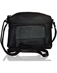 Style98 Black Leather Women's Messenger Bag